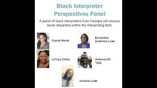 Black Interpreter Perspective Panel   8/27/2020