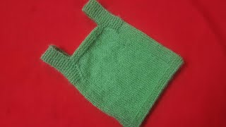 How to knit woolen vest inner for newborn baby| Knitting woolen inner for baby |Woolen Tutorial # 9
