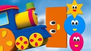 Bob, the Train | bob hình dạng chuyến tàu bài hát | hình dáng học tập cho trẻ em