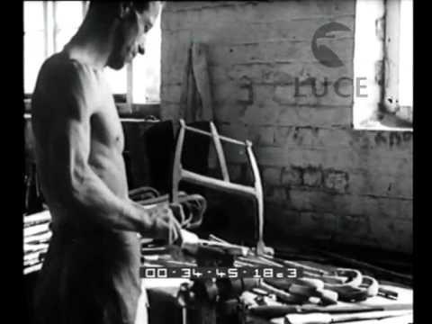 La fabbricazione di bastoni da passeggio in un paesino inglese