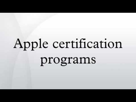 Apple certification programs - YouTube