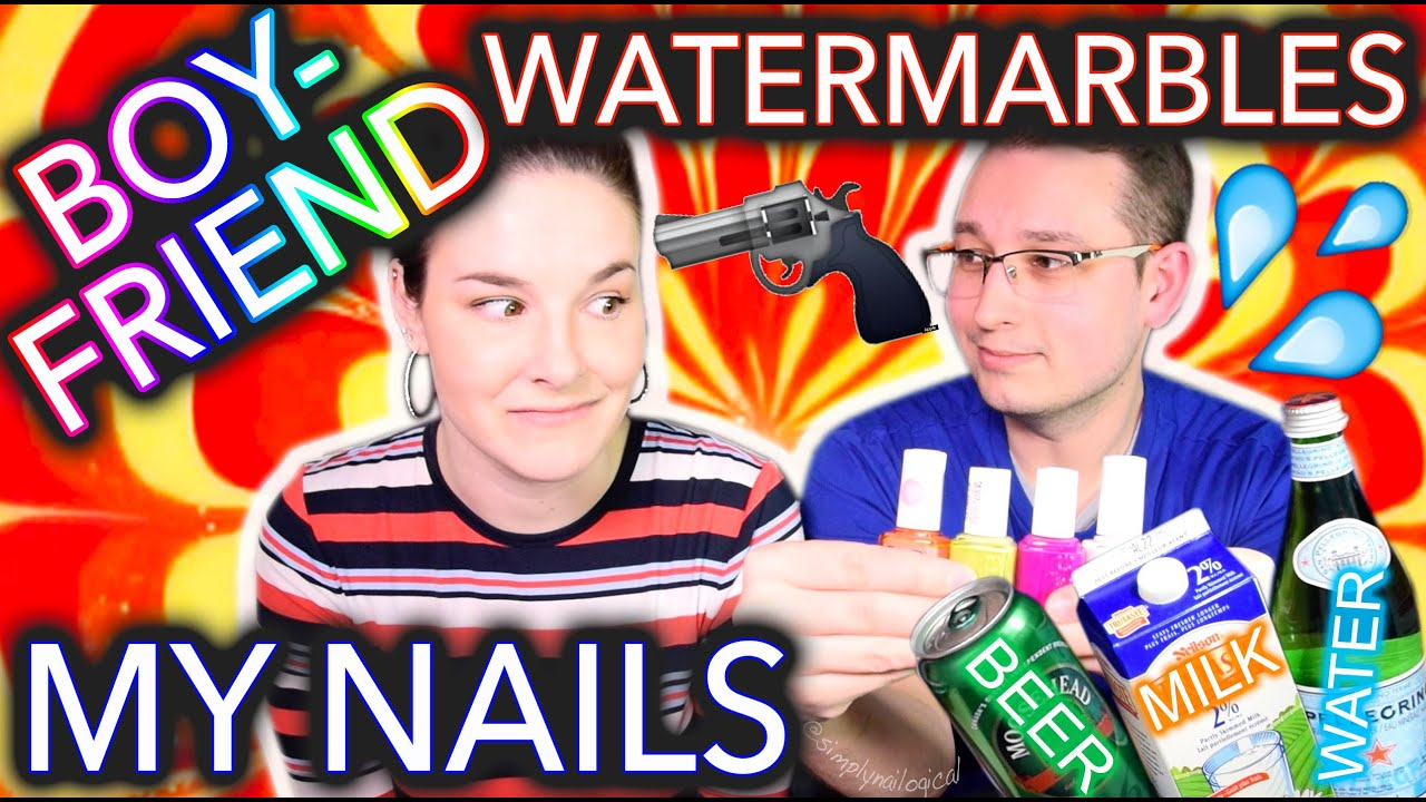 My Boyfriend Watermarbles my Nails WITH BEER?! thumbnail