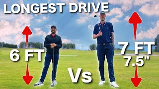 "7ft 7"" (350lbs) GOLFER hits it MILES 