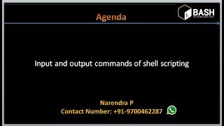 Complete Shell Scripting Tutorials | Input and Output commands of a shell scripting