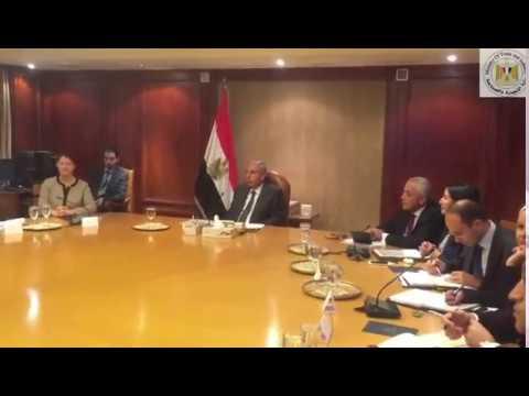 لقاء الوزير/ طارق قابيل بوفد وكالة التعاون الإنمائى الألمانى