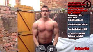 BEST Dumbbell Workout - My INTENSE Home Shoulder Workout To Build Muscle Fast by shreddybrek