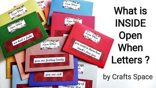 What is inside Open When Letters l How to fill Open when Cards l Crafts Space