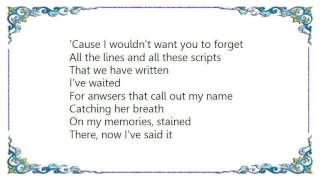 Further Seems Forever - There Now I've Said It Lyrics