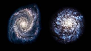 Depending upon the angle spiral galaxies are seen their observed shapes can
