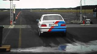 preview picture of video 'BMW E36 M3 @ Fuel-Games III Rothenburg 2012 (1/4 Meile @ 13,0)'