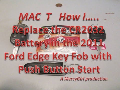 Ford Edge Push Button Start Key Fob Battery Replacement