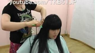 ☆ #560 High School Girl Haircut  刈り上げJK