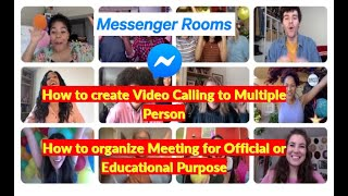 How to create Video Calling to Multiple Person Through Messenger, Facebook, Whatsapp, Instagram