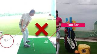 How to judge the correct distance from the golf ball.