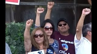 TRUMP SUPPORTERS CRASH PRO SANCTUARY CITY PRESS CONFERENCE AT SAN BERNARDINO CITY HALL