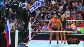 The Rock Returns ! (Entrance) | WWE Raw 06/10/2014 | BIG CROWD !