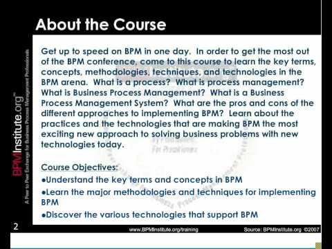 BPM 101: Introduction to Business Process Management - YouTube