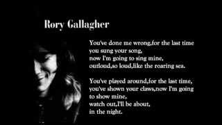 For The Last Time - Rory Gallagher (lyrics On Screen)