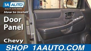 How To Remove Door Panel  95-05  Chevy S-10
