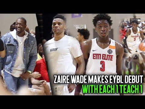 Zaire Wade vs Chicago! Dwyane Wade's Son Open Run Basketball