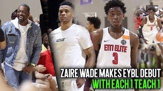 Russell Westbrook & Dwyane Wade watch Zaire Wade Make Nike EYBL Debut with E1T1