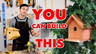EASIEST DIY Birdhouse With Minimal Tools, Every Step Explained