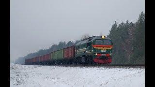 Тепловоз М62-1548 с грузовым поездом на Жлобин