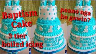 BAPTISM CAKE | BOILED ICING