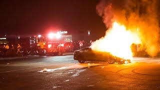 MUSTANG CATCHES ON FIRE AT INSANE CAR MEET!!!! (Complete Destruction with Aftermath)
