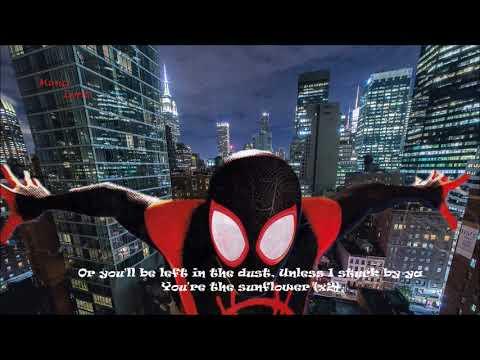 Post Malone, Swae Lee - Sunflower (Spider-Man: Into the Spider-Verse) Lyric _ Animation