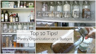 10 Tips to Organize Your Pantry on a Budget