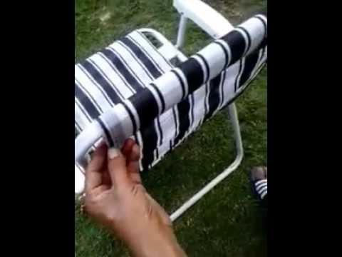 Como restaurar una silla playera❤