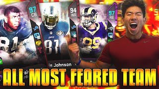 ALL MOST FEARED TEAM! 7 FEET TALL LINEUP! Madden 19 Ultimate Team