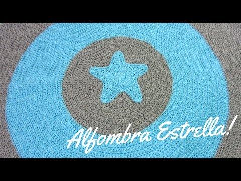 Crochet Alfombra Circular Estrella - Paso a Paso