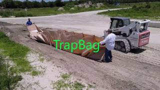 Fastest Flood Barrier TrapBag pull out 50 ft in 10 sec Flood Barrier Bag
