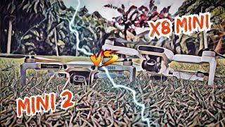 DJI Mini 2 vs Fimi X8 Mini    Estabilidade e Tempo de Voo    1° Round