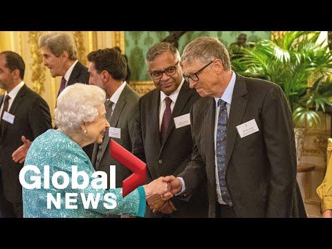 Queen Elizabeth holds reception for business leaders at Windsor Castle