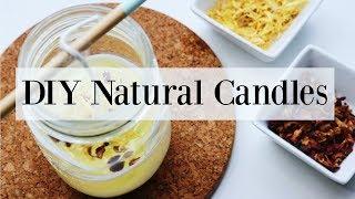 How To Make Candles With Essential Oils - Homemade Summer DIY♡ NaturallyThriftyMom