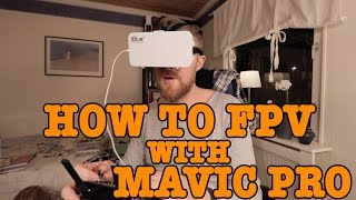 MAVIC PRO - CHEAP WAY TO FLY FPV AND USE AN BIGGER EXTERNAL SCREEN!