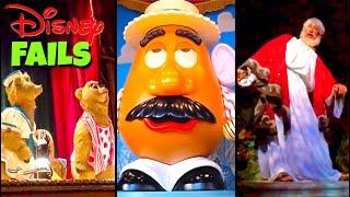 Top 10 Disney Fails, Bloopers & Animatronic Malfunctions Pt 8