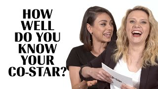 Kate McKinnon Literally Fights Mila Kunis To Avoid Embarrassment | How Well Do You Know Your Co-Star