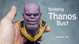 Sculpting Thanos (Avengers endgame) - polymer clay tutorial