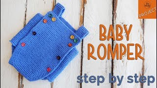 How To Knit A Baby Romper For Beginners, Step By Step - So Woolly