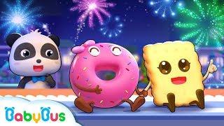 ★NEW★お菓子パーティー  | ドーナツ  マカロン ゼリー  どっちが美味しいかな?| 食べ物のうた&人気童謡まとめ 連続再生 | 赤ちゃんが喜ぶアニメ | 動画 | ベビーバス| BabyBus