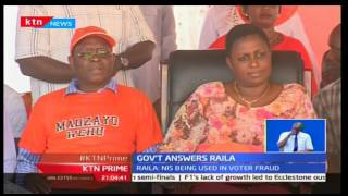 KTN Prime: NASA Leader Raila Odinga alleges Jubilee government in a election cheating ploy with NIS
