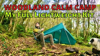 WOODLAND WILD CAMP See my Full Lightweight Camping Kit - Old HILLEBERG TENT - Naturehike ULG400 - UK
