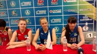 2014 AVC Women Volleyball U19 in Taipei  Kazakhstan Interview Sabina Altynbekova