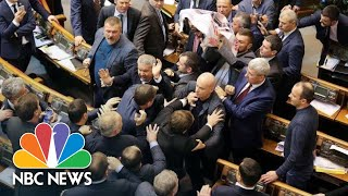Fistfight Breaks Out In Ukraine's Parliament, Again | NBC News