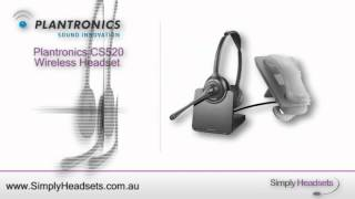 Plantronics CS520 Wireless Headset Video Overview
