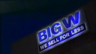 "Big W Australian TV Ad ""You Know The Price Is Low, Everyday"" (1994)"